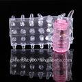 Rc012/sesso negozio di giocattoli in munbai dito pene preservativo manica vibratore del pene anello in silicone