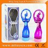 water sprayfan plastic battery operated mini toy fan