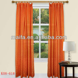 100% Polyester Plain Jacquard Rod Pocket Cafe Curtain