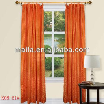 100% Polyester Plain Jacquard Rod Pocket Cafe Curtain