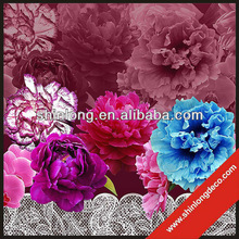 New arrival glass decorative flower picture