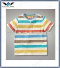 wholesale kids clothes fancy cotton short sleeve stripe boy t-shirt design