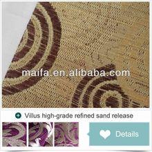 luxury jacquard chenille fabric forteak wood sofa sets