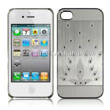 peacock diamond design Aluminum case for iphone 4G