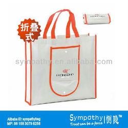 red edge foldable non-woven bag