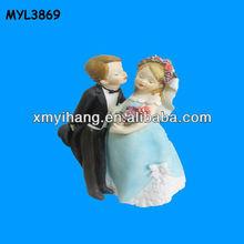 Gravida couple resin Royal Blue Wedding Decoration
