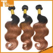 5A Body Wave Ombre Hair Bundles Cheap Hotsale Hair Weaves Two Tone Color 1B/30 Brazilian Human Hair Extension