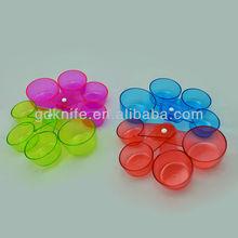 4pcs plastic color measure spoon,color measure cup