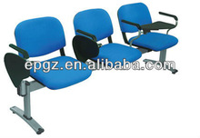 three seats waiting chair with arms /aluminum waiting room chair for airport or railway station or metro