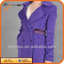 Brand Name New Purple Long Winter Fashion Design Woman Warm Coat
