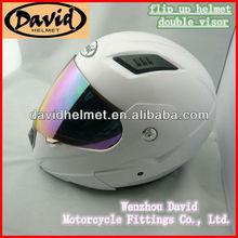 David flip up helmet double visor helmet with dot standard