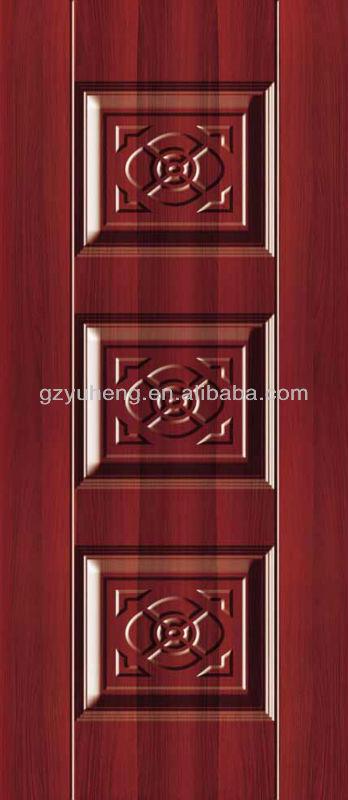 Imitated Mahogany Wood Skin For Doors Interior View Doors