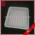 Embalagem de alimentos bandeja/microwavable bandeja preta/descartáveis lancheira de plástico/bandeja