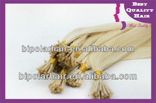 Buy direct from china manufacturer european virgin hair I tip stick shape hair extensions