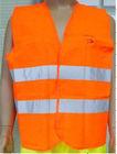 fish logo 100% polyester reflective safety vest