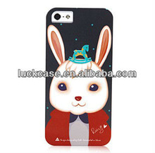 Rabbit printing hard plastic case for iphone 5s Custom logo and designs Factory price