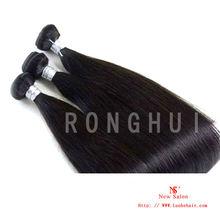 Top selling virgin hair weave natural black straight hair Russian human hair