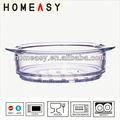 2014 nouveau produit 20 cm 24 cm pyrex verre ustensiles de cuisine pour micro-ondes et four made in china