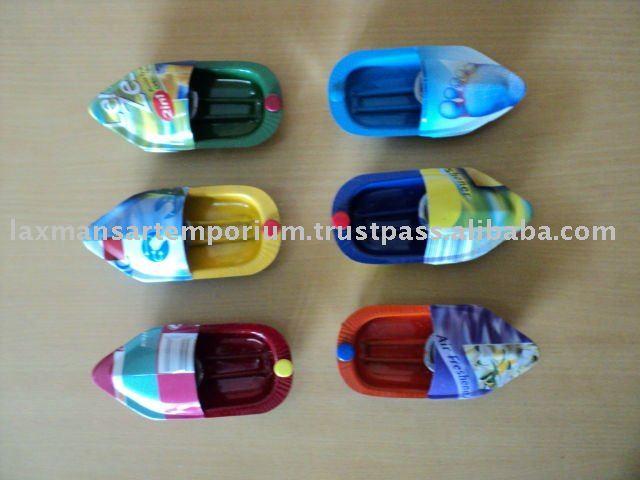 Reciclado mini pop pop barcos mini-Juguetes Otros y Hobby