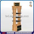 Tsd-w001 chino antiguo de madera expositores/alimentos exhibición de la tienda/3 capa de soporte de exhibición