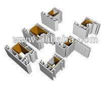 3 chamber Pvc Profile fror Door and Window