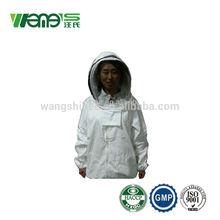 2015 venda quente algodão puro bee vestuário de protecção terno para a apicultura