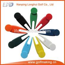 Plastic golf ball marker divot tool