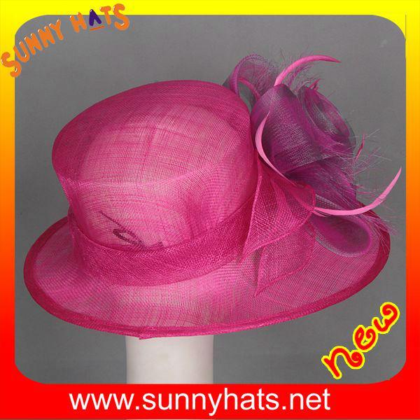2014 newest sinamay fancy church hats