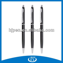 Customized Crystal Clip Twist Metal Ballpoint Pen