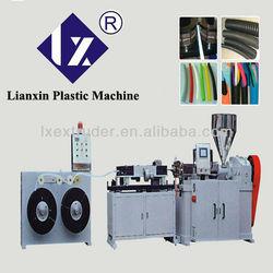 PP PE PVC EVA Single Wall Corrugated Pipe Extrusion Machine