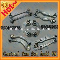 China high performance full set of aluminium auto suspension parts control arm for Audi A4 A6 A8 VW Passat