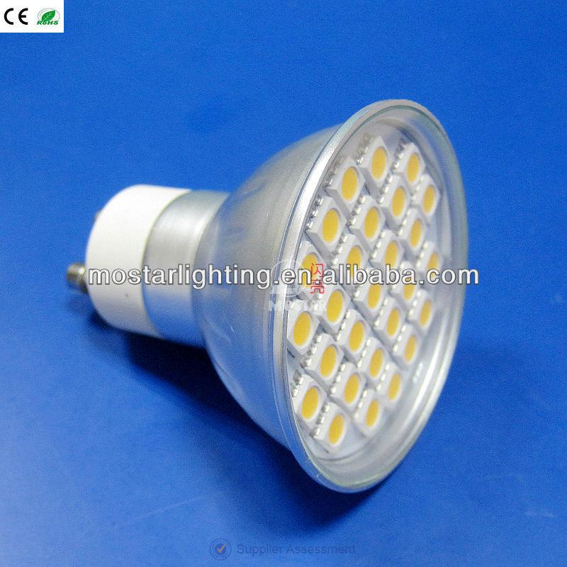 2014 GU10 220-240V dimmer 4W 27pcs SMD 5050 LED spot light