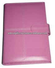 ADALP - 0041 day planner / best agenda organizer planner notebook with magnetic lock / pink leather planner journal notebook