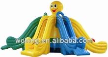 hot sale inflatable toboggan slide / inflatable dry slide