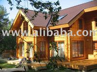 log house 250 sqm - energy efficient building