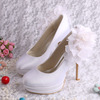 Double Platform High Heel Sexy Wedding Shoes Womens