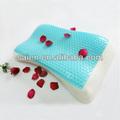 Comprimido da embalagem silicone arrefecimento gel memória espuma travesseiro com capa de veludo