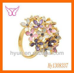 Fashion Flower Shaped Rings China Jewelry Displays Fashion Jewelry Big Flower Rings Quality Products Handmade Flower Ring