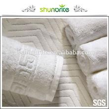 Hilton hotel supplier 100% cotton jacquard hotel towel for 4-5 start hotel