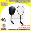 Black Universal Motorcycle Naked Streetfighter Bike Rear View Side Mirrors