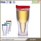 OEM double wall plastic beer mug freezer with lid