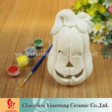 Halloween Pumpkins Decor Bisque Ceramic Paint Your Own Item
