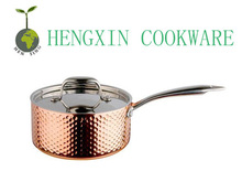 2014 high quality pan copper cookware clay cooking pot