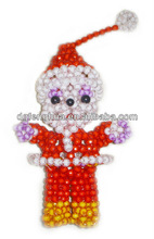 lovely and fancy crystal beads decorative Christmas gifts-Santa Claus