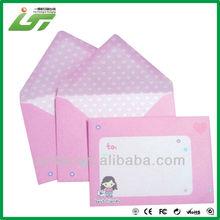 pink printing small gift paper envelope