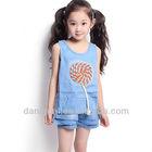 Latest dress design for kids jeans skirt designer girls denim wholesale in china
