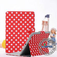 Fashionable Card slot Wallet Folio Flip leather cover case for ipad mini