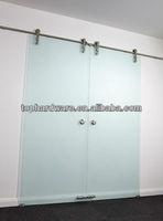 double leaf stainless steel sliding door
