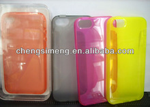 TPU cell phone Cover for iphone 4S/iphone 5 New looking shield