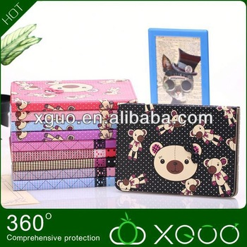 2014 new arrival lovely bear case for for for ipad mini